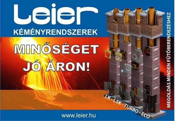 Leier kémény-rendszerek akciója, optimális megoldások minden fűtésre!